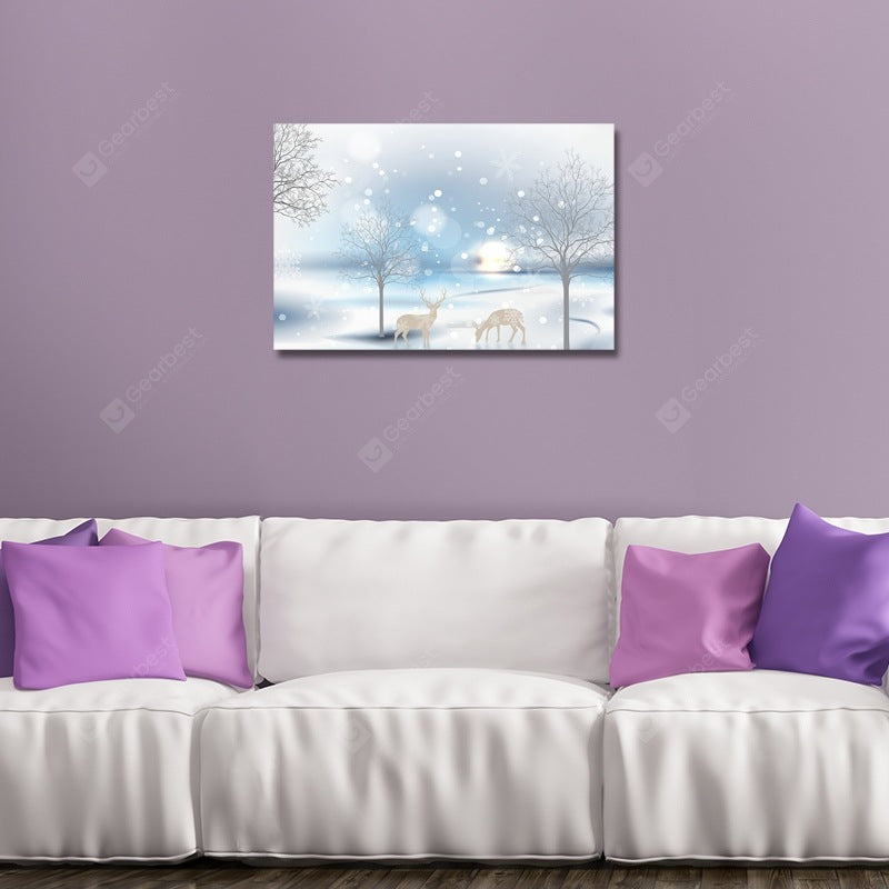 Cartoon Snowscape Print Art Wall_Art