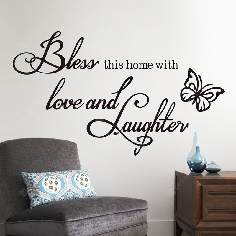 BLESS New Butterfly Rumors Removable Wall Sticker Wall_Art