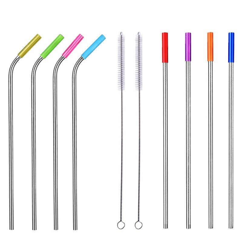 Reusable Stainless Steel Drinking Straw 8PCS Drinkware