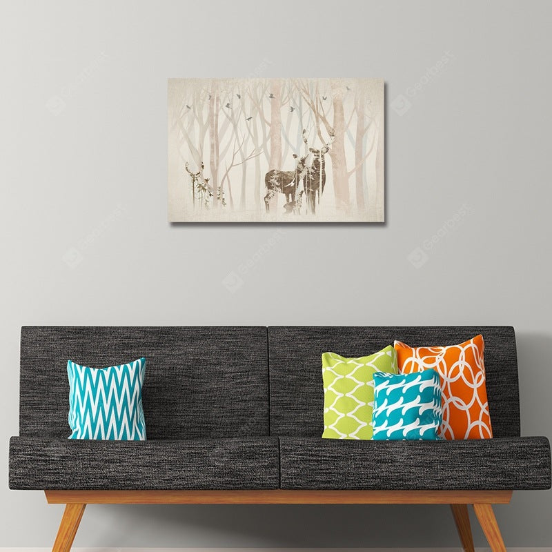 DYC Abstract Silhouette of Sild Deer Scenery Print Art Wall_Art