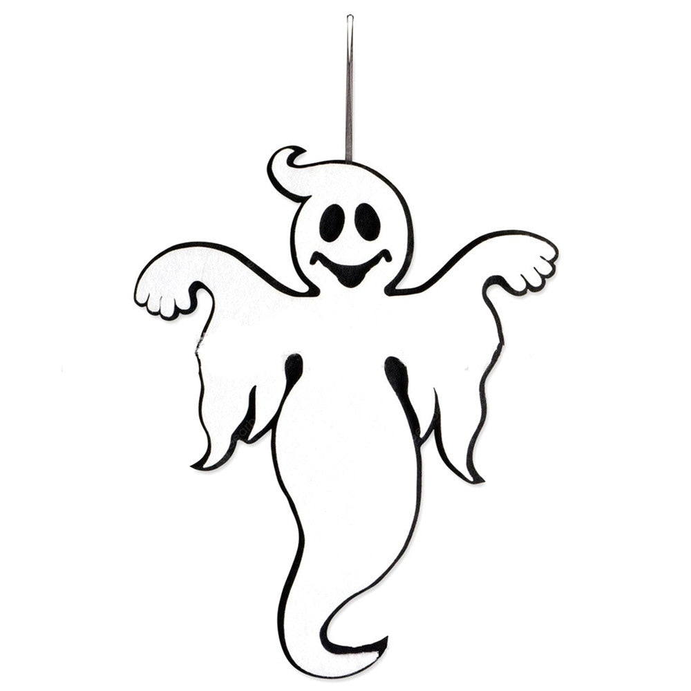 Halloween Decoration Hanging Hangtag Ghost Window Door Decoration Strip Tapestries