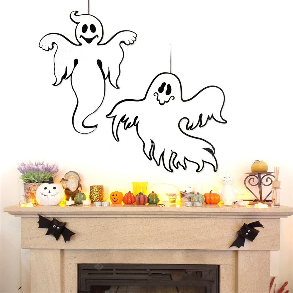 Halloween Decoration Hanging Hangtag Ghost Window Door Decoration Strip