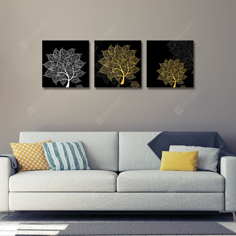 Abstract Silhouette Tree Print Art 3PCS Wall_Art