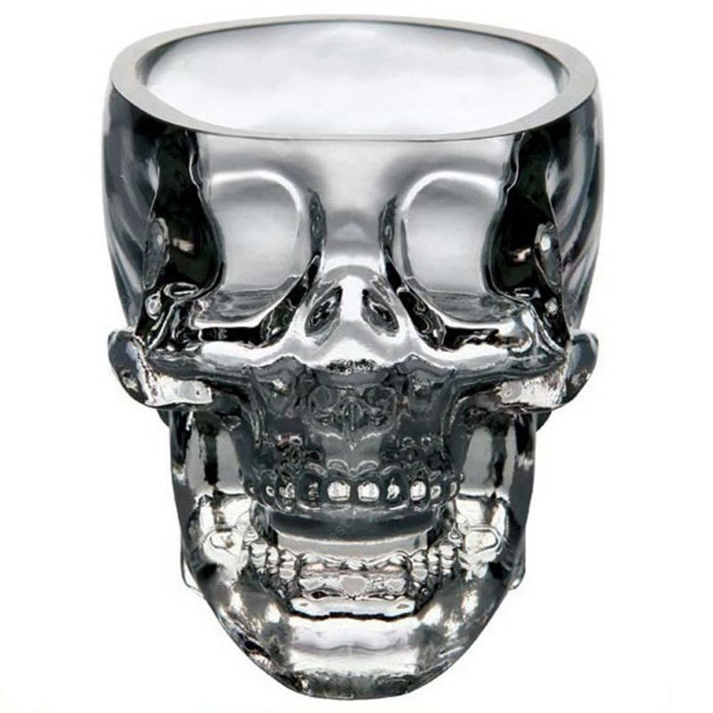 Crystal Skull Whiskey Glass Cup Drinking Ware Bar Drinkware