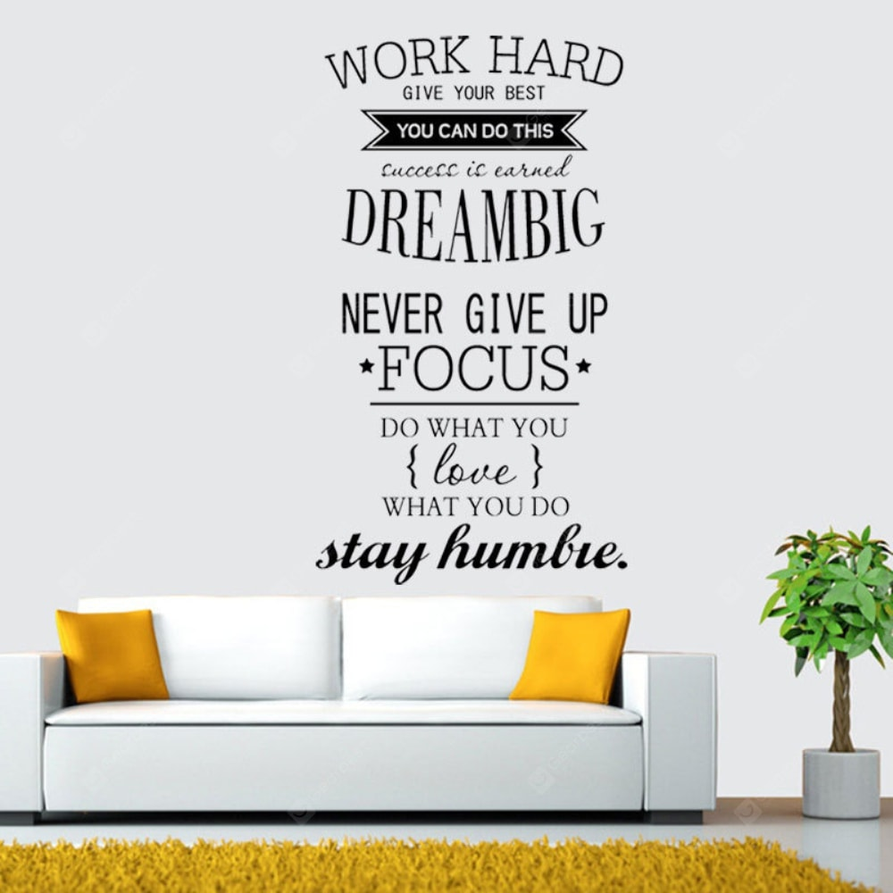 Work Hard Dream BIg Proverbs Art Wall Stickers. Wall_Art