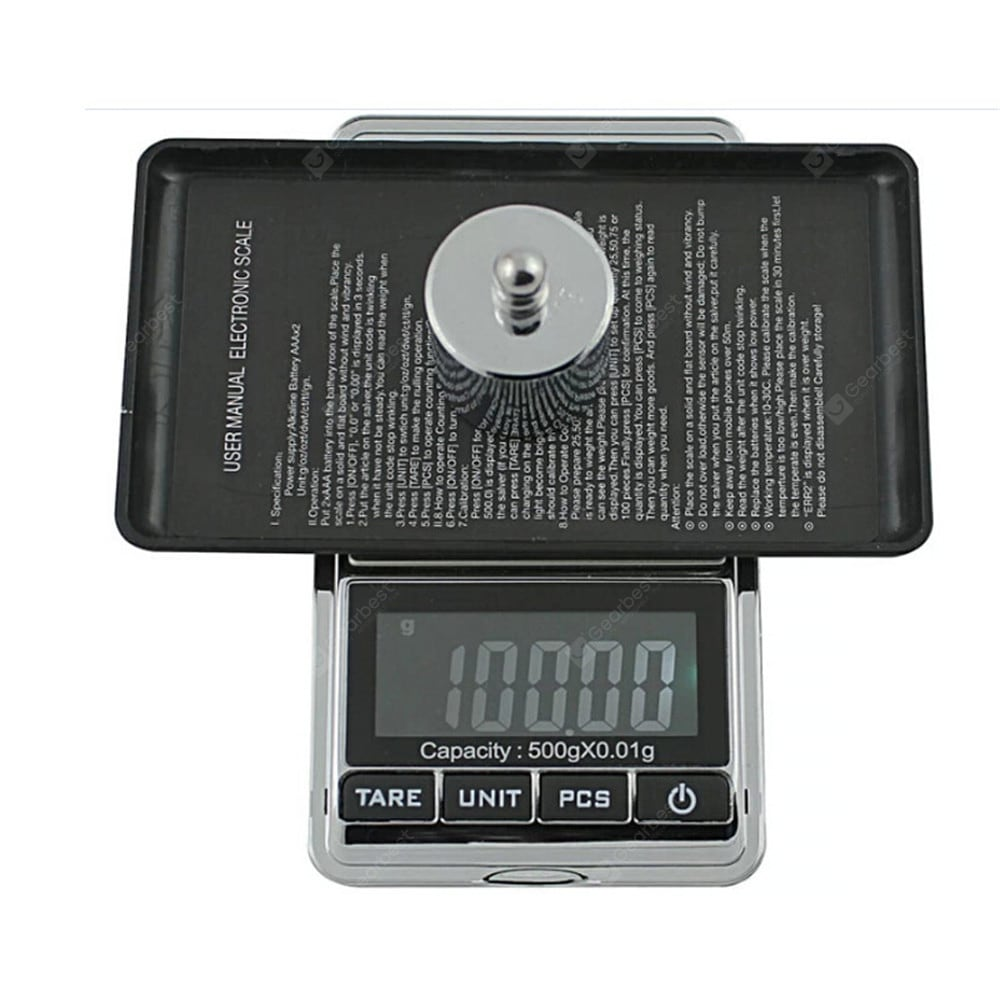 500g/0.01g Electronic Scale Precision Portable Pocket LCD Digital Cookware