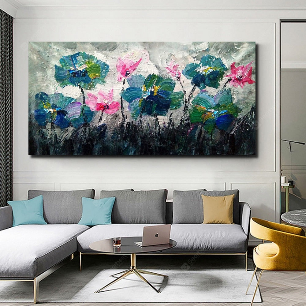 QINGYAZI HQ039 Hand-Painted Abstract Oil Painting Home Wall Art Painting Wall_Art