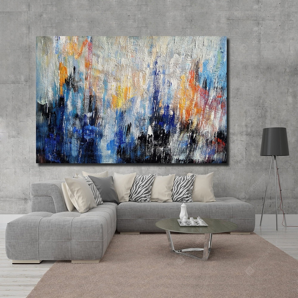 QINGYAZI HQ040 Hand-Painted Abstract Oil Painting Home Wall Art Painting Wall_Art
