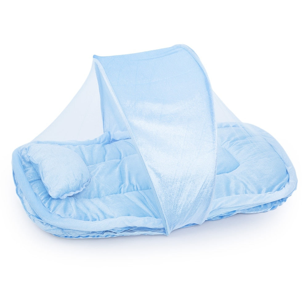 Solid Color Babies Folding Thickening Mosquito Net