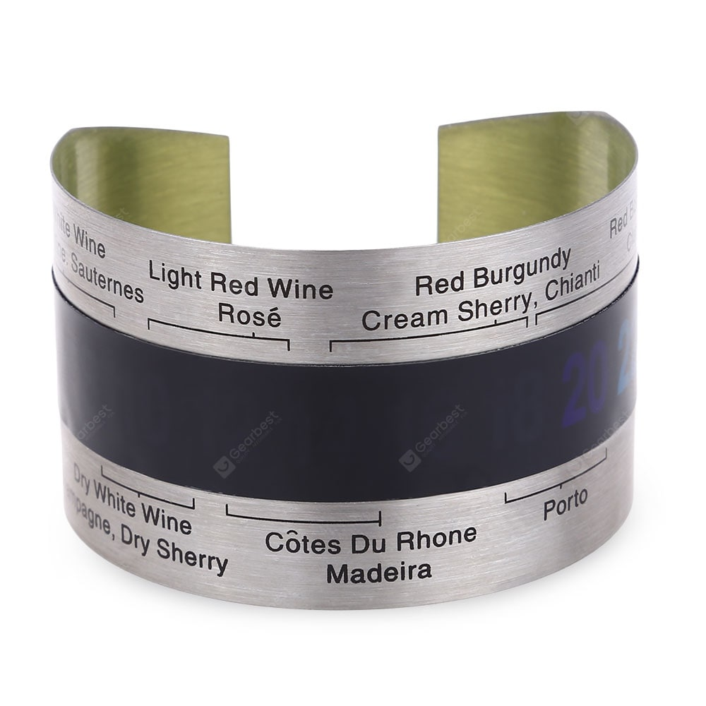 Stainless Steel Wine Bracelet Thermometer Barware