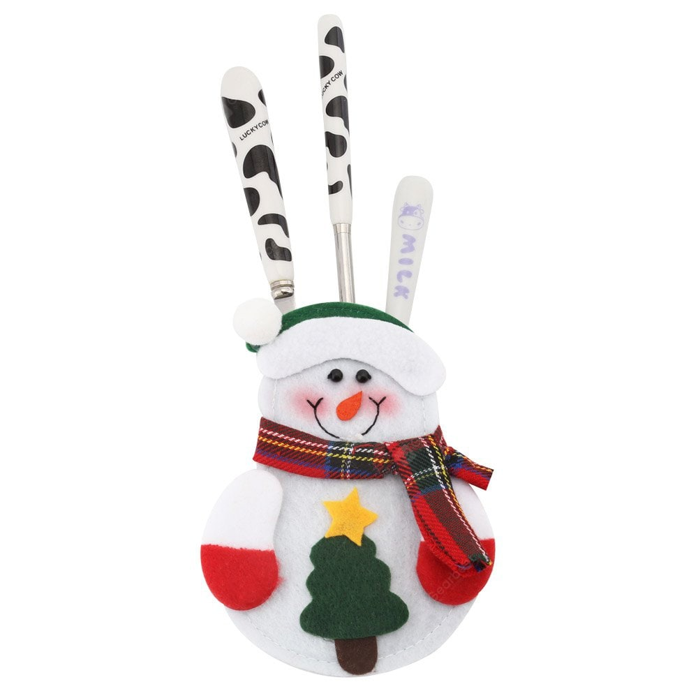 12pcs Snowman Silverware Holder Table_Accessories