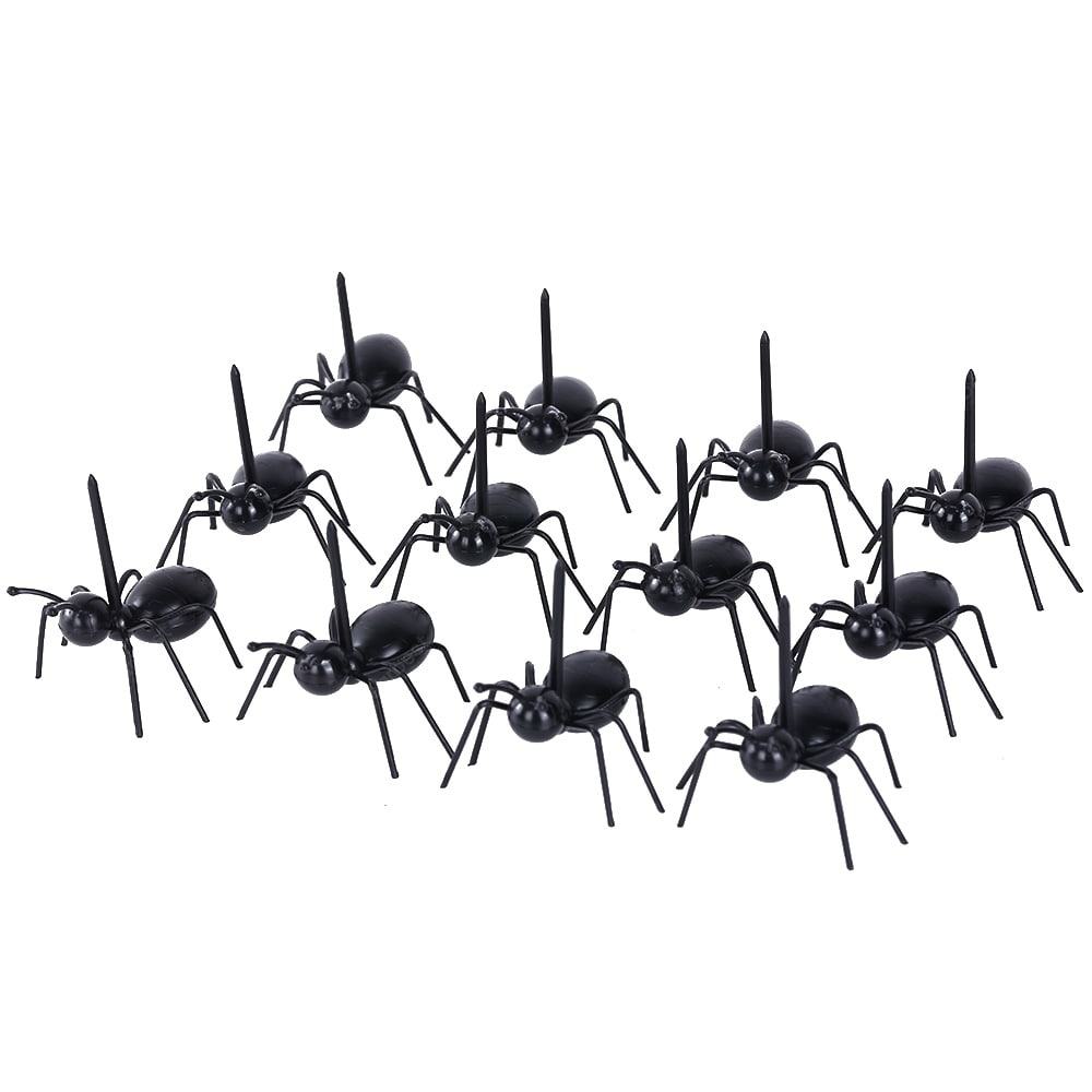 12pcs Creative Ant Style Plastic Safety Fruit Forks for Cake Salad Bakeware