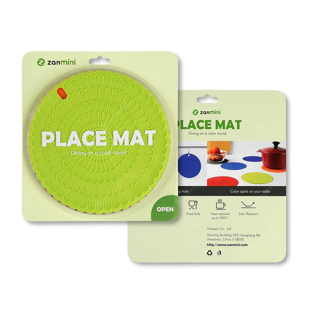 zanmini Silicone Hot Pad Food Safe Place Mat Set of 4 Table_Accessories