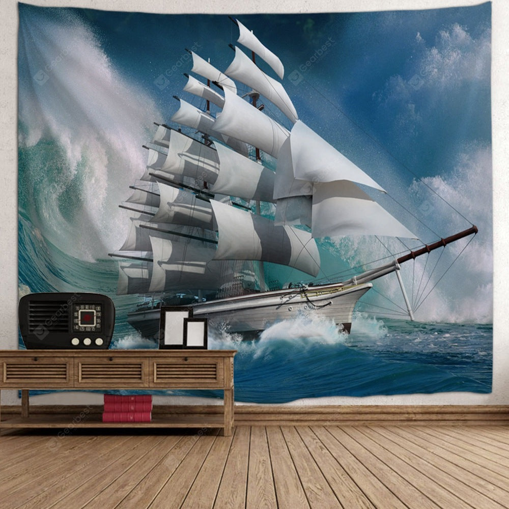 Nautical Scenery Wall Hanging Tapestry Tapestries