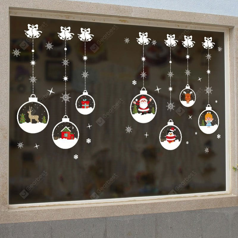 Christmas Baubles Bells Pattern Wall Art Stickers For Living Room Wall_Art