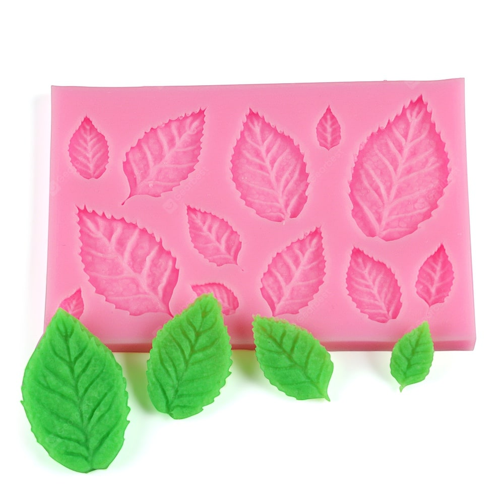 50 - 553 Leaves Shape Silicone Cake Mould Bakeware