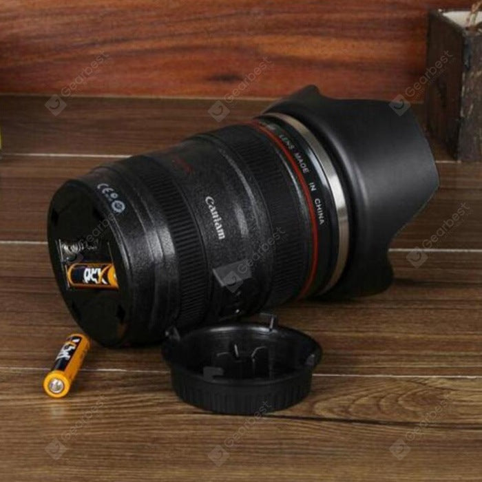 Creative SLR Camera Lens Shape Electric Stirring Coffee Cup Drinkware