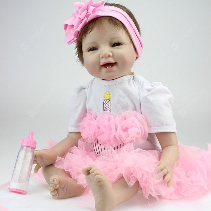 NPK Emulate Reborn Baby Smile Doll Stuffed Toy