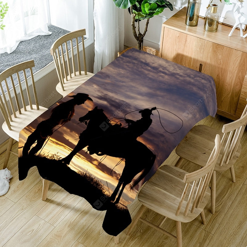 West Cowboys Pattern Table Cloth Table_Accessories