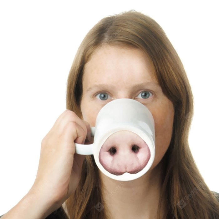 Mug Pig Nose Funny Ceramic Coffee Cup 301 - 400ml Drinkware