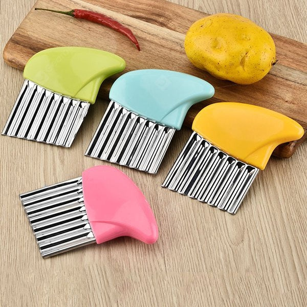 Stainless Steel Fruit Vegetable Crinkle Cutter Cutting Tool Cookware