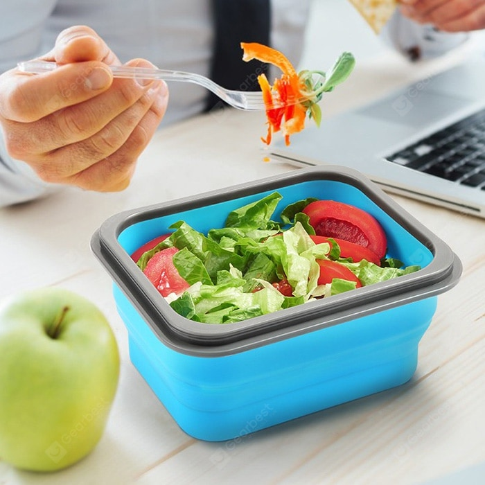 zanmini ZBOX01 Folding Silicone Food Storage Container Dinnerware