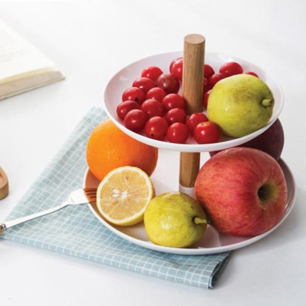 Creative Double-deck Fruit Tray Practical Sugar Plate Dinnerware