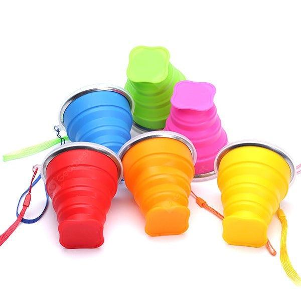Portable Collapsible Multi-function Cup for Containing Drinkware