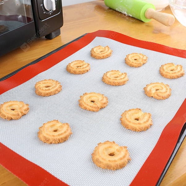 Silicone Baking Heat Safe Mat Cut Corner Cooking Pad 1pcs Other_Kitchen_Accessories