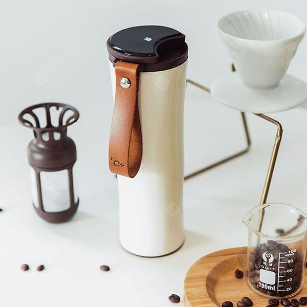 Xiaomi KissKissFish MOKA Stainless Steel Smart Coffee Cup with OLED Touch Screen Other_Kitchen_Accessories