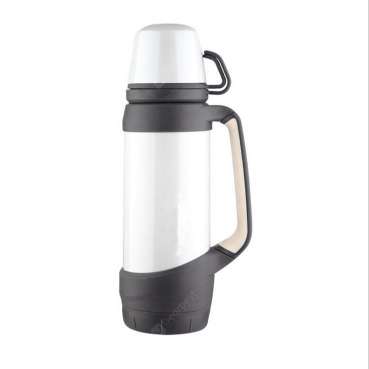 Creative Double Lid Vacuum Stainless Steel Thermos Cup Large Capacity Sports Travel Kettle Promotion Gift Customization Drinkware