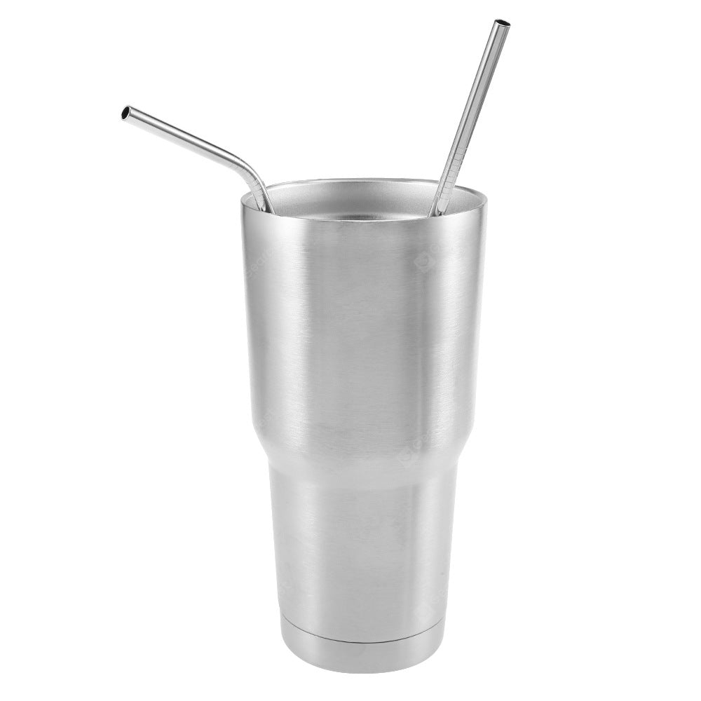 Stainless Steel Drinking Straw with Cleaning Brush Drinkware