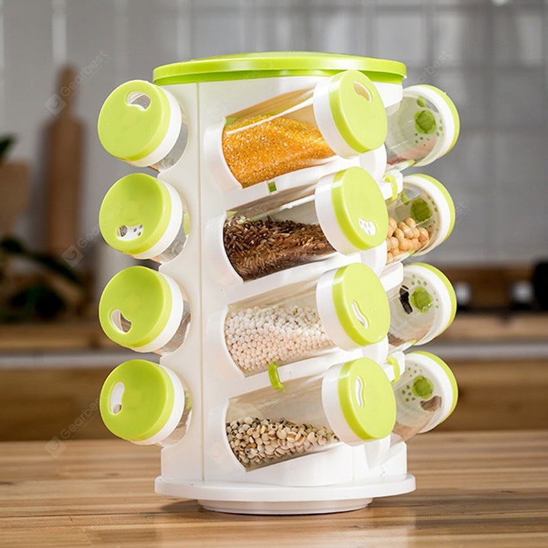 Rotating Porous Seasoning Bottle Holder Set Cookware
