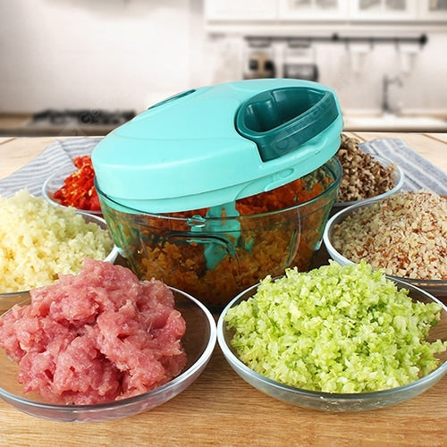 Hand-held Garlic Crusher Garlic Ginger Mincer Mini Chopping Food Machine Cookware