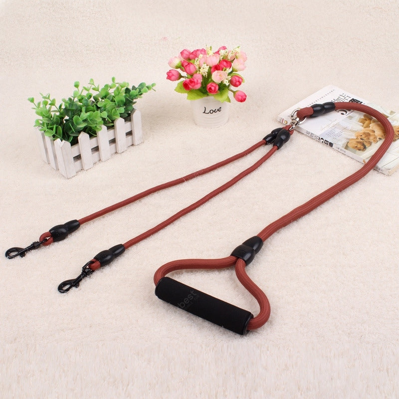 Double Hook Multi-function Dog Leash Nylon Chain Baby_Carriers&Backpacks