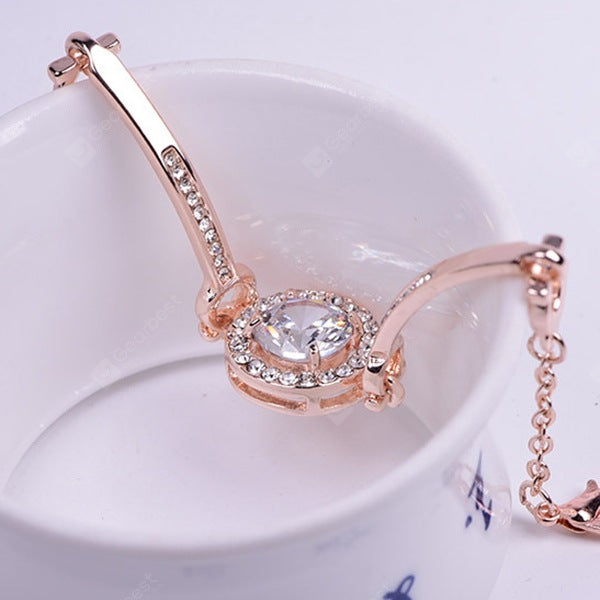 Rose Gold Popular Bracelets Zircon Simple Women's Wear Bracelet Korean Crystal Jewelry Bracelets&Bangles