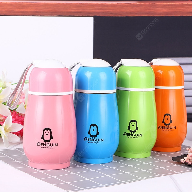 Creative Stainless Steel Mug Cute Cartoon Student Portable Penguin Cup Gift Cup Drinkware
