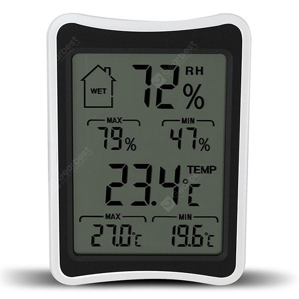 DTH-113 Home Indoor Digital Large Screen High And Low Temperature Wet Electronic Thermometer And Hygrometer Large Screen Temperature Measuring Instrument Other_Kitchen_Accessories