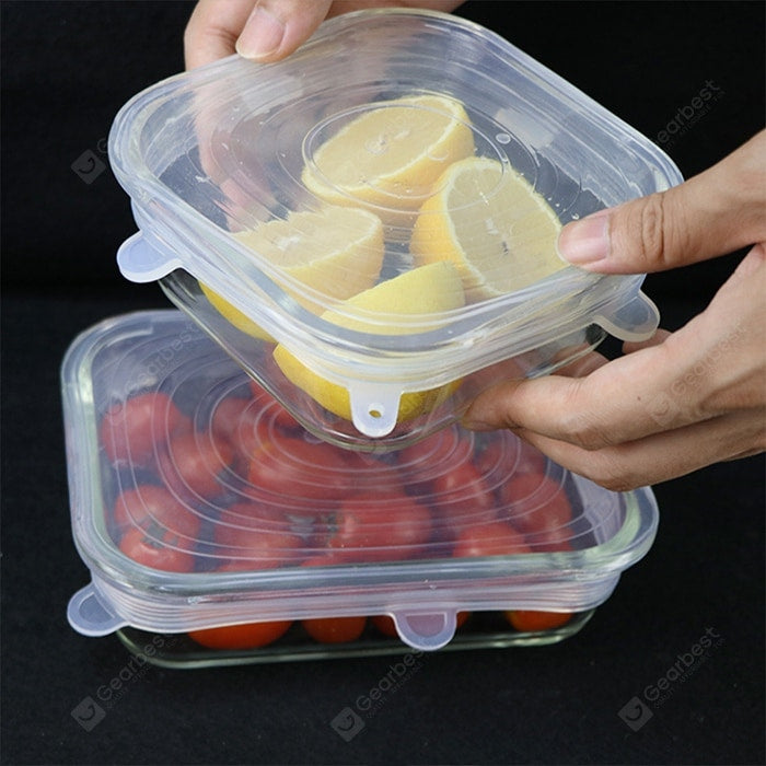 Stretchable Silicone Bowl Lid Food Wrap Washable High Temperature Resistant Microwave Oven Fresh Cover Suitable For Cooking Kitchen Refrigerator Other_Kitchen_Accessories