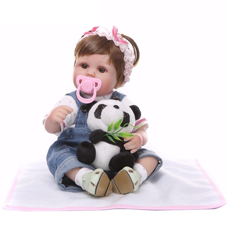NPK Silicone Cute Reborn Baby Dolls Toys Girl Gifts