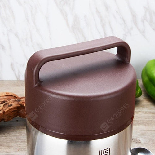 Vacuum Insulated Lunch Box Stainless Steel Jar Hot Cold Thermos Food Container Drinkware