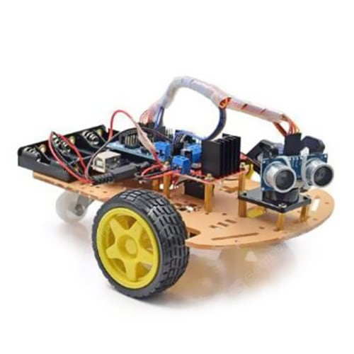 L298N DIY 2WD Ultrasonic Smart Tracking Motor Robot Car Kit for Arduino Science&Discovery_Toys