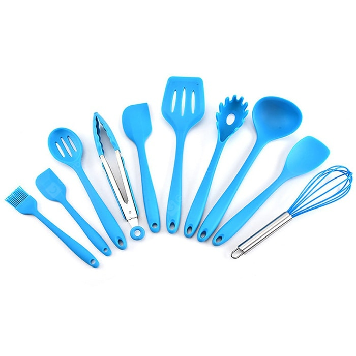 Kitchen Silicone Kitchenware Cooking Tool 10pcs Cookware