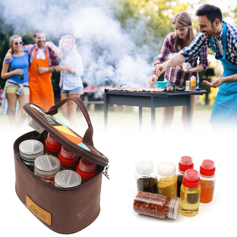 Mini Outdoor Camping Barbecue Seasoning Tank with Kitchen Portable Storage Box Other_Kitchen_Accessories