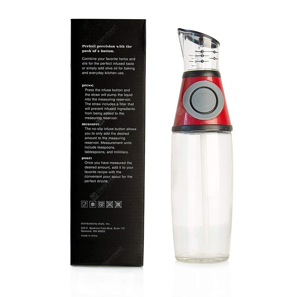 Controllable Metering Push Type Oil Bottle with Graduated Other_Kitchen_Accessories