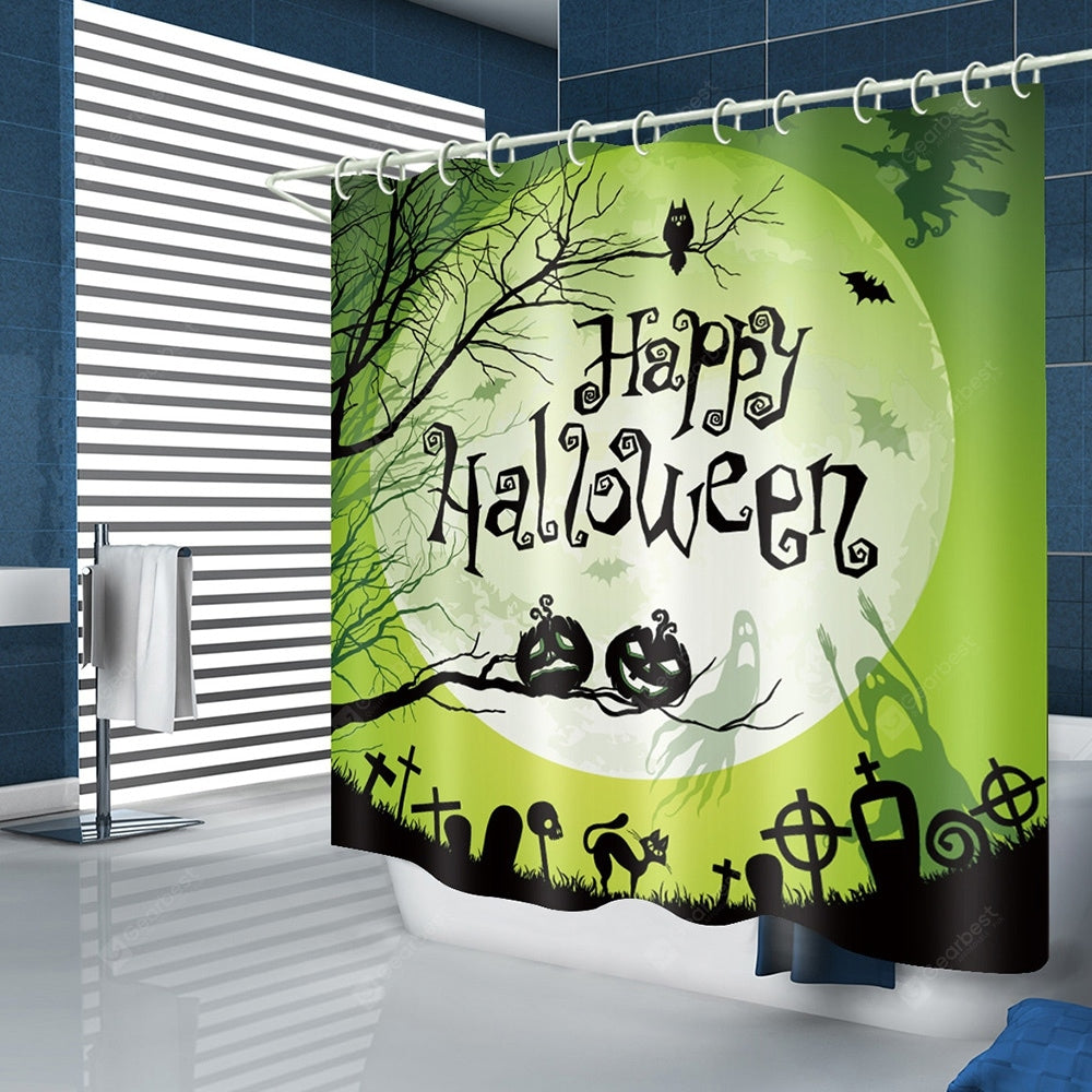 Green Halloween Pattern Waterproof Tapestry Tapestries