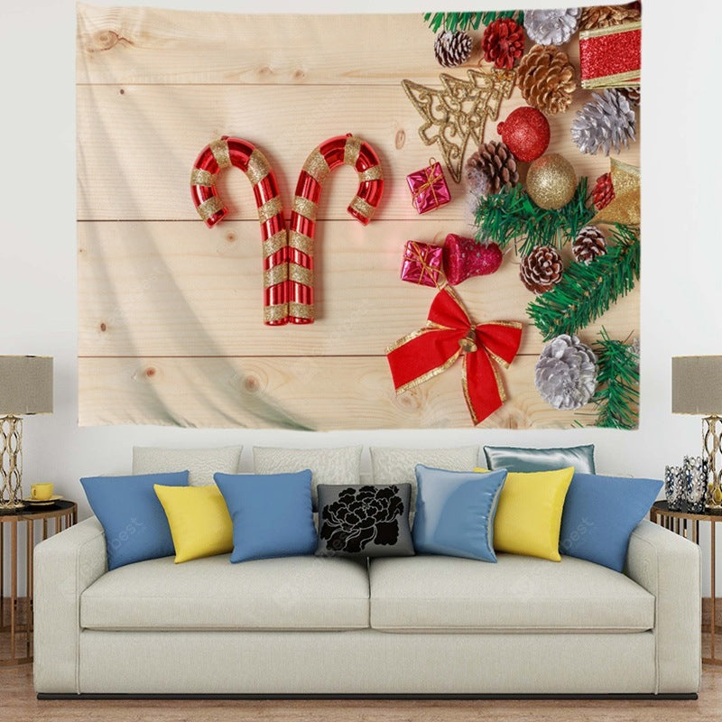 Delicious Christmas Candy on The Floor Digital Print Tapestry Tapestries