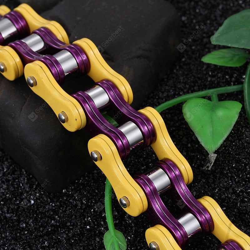 Trend Multicolor Mix and Match Bicycle Chain Titanium Steel Bracelet Jewelry Bracelets&Bangles