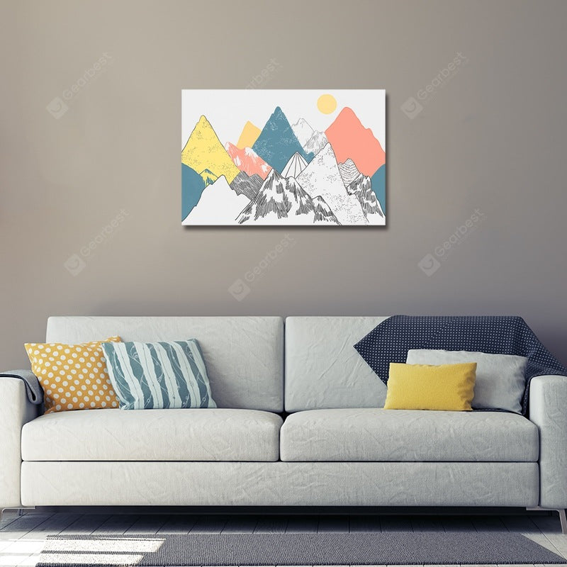 DYC Cartoon Coloured Abstract Peak Print Art Wall_Art