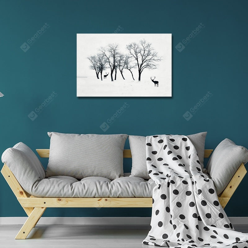 DYC Wild Deer Under Big Trees Print Art Wall_Art